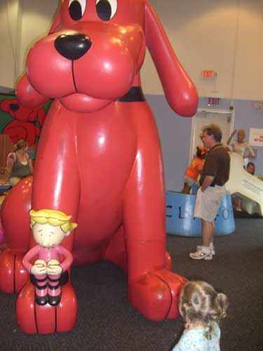 The special exhibit on the second floor of the museum was dedicated to Clifford the Big Red Dog and