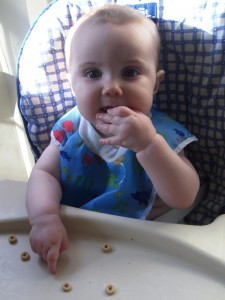 Success! Cheerios are yummy. :)