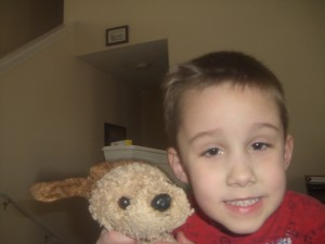 And here's a clearer one of Jonathan with Max (courtesy of Emma).