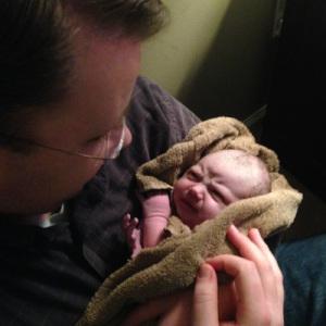 Aaron newborn mad face (sm)